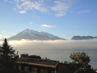 Aussicht Oberhofen - Blick Richtung Niesen