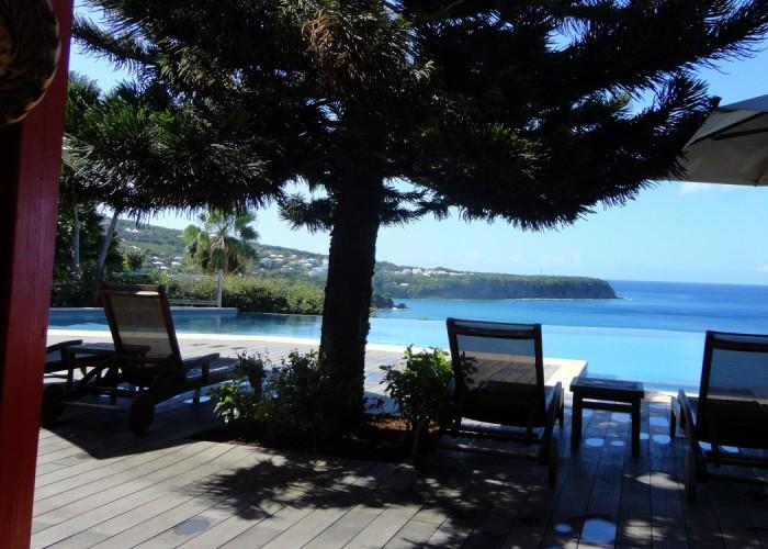 Ferien Goudeloupe 2014 - Aussicht auf das Meer