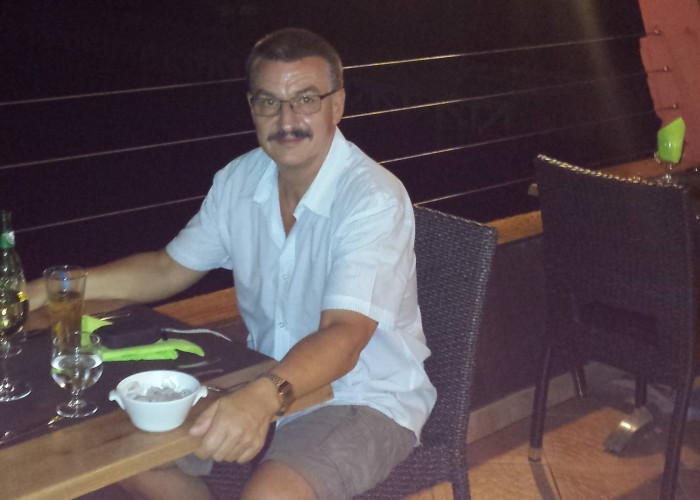 Ferien Goudeloupe 2014 - Abendessen am Meer