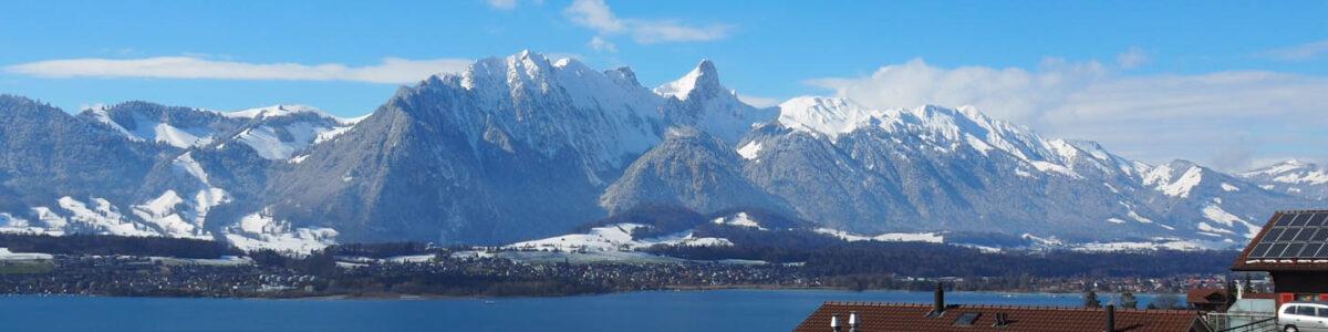 Oberhofen - Aussicht auf die Gantrischkette